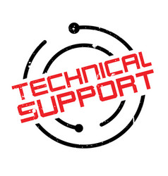 technical support rubber stamp vector image