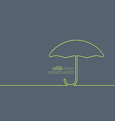 Abstract background with open umbrella vector