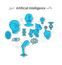 Artificial intelligence poster vector