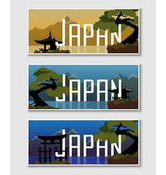 Banner with a Japanese landscape vector image