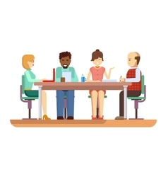 Business briefing flat design characters vector image