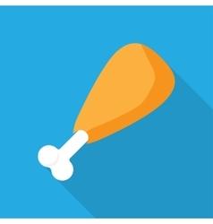 chicken or turkey leg vector image vector image