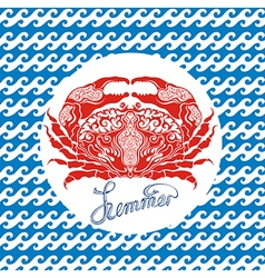 Crab sign vector image vector image