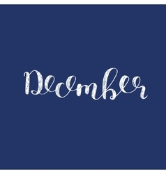 December Brush lettering vector image vector image