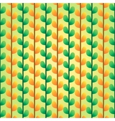 Green and orange leafs pattern vector image vector image