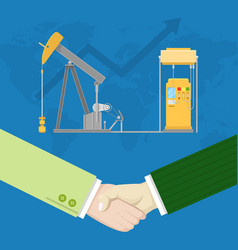 Oil industry production partnership vector
