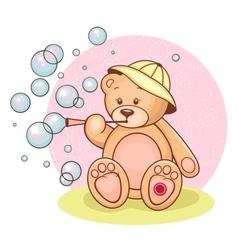 Teddy Baby bubbles vector image vector image