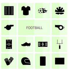14 football icons vector