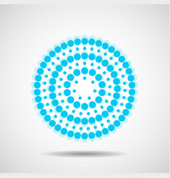 abstract dotted circles colorful dots vector image