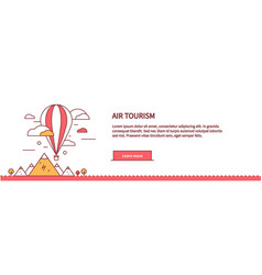 air tourism web page design flat vector image