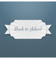 Back to School Text on Tag with Ribbon vector