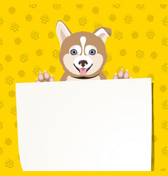 banner with cute puppy vector image