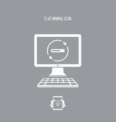 bar progress computer icon vector image