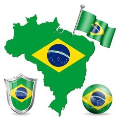 brazilian symbol vector image