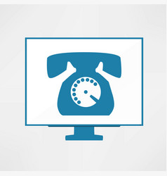 calling icon vector image