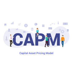 Capm capital asset pricing model concept with big vector