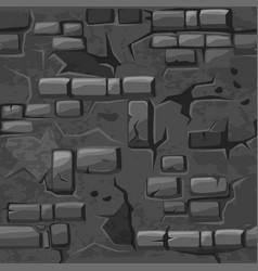 cartoon seamless pattern texture old grey vector image vector image