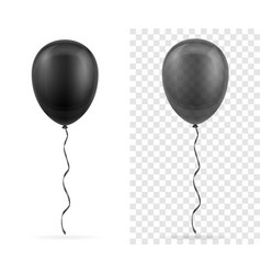 Celebratory transparent black balloons pumped vector