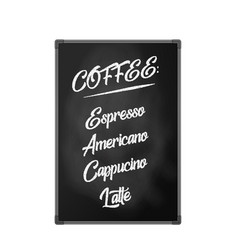chalk board billboard for cafes restaurants and vector image