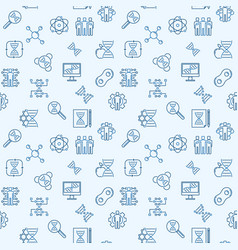 Cloning outline seamless background vector