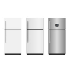 closed refrigerators vector image
