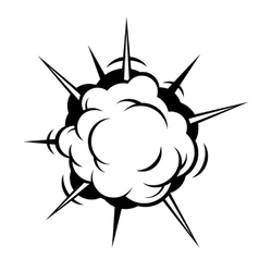 Comic Boom Explosion vector image