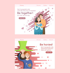 Couple in love concept man and woman relationship vector