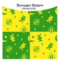 creative and colorful ramadan seamless pattern vector image