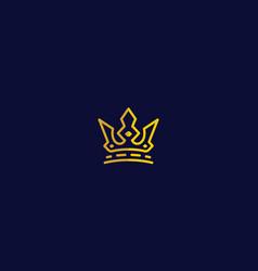 crown logo icon vector image