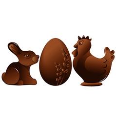 Easter chocolate figures vector