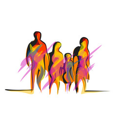 Family abstract vector