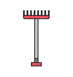 Farm rake isolated icon vector