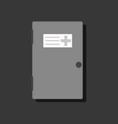 Flat icon design collection doctors door vector