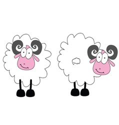 funny ram animal with big eye vector image
