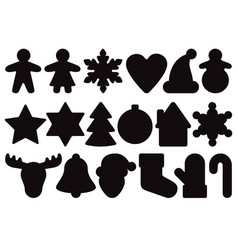 gingerbread silhouette set vector image