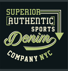 Graphic superior authentic sports vector