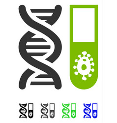 Hitech microbiology flat icon vector