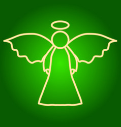 Icon angel with wings and nimbus vector