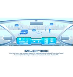 Intelligent vehicle cockpit view design vector