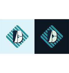Letter D emblem vector