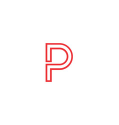 letter p icon alphabet symbol vector image