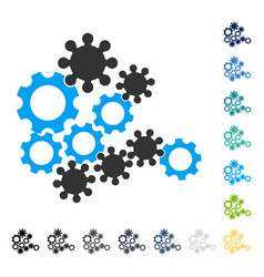 Mechanics gears icon vector