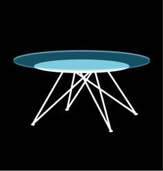 Modern glass coffee table vector