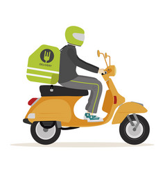 motorcycle food deliver vector image