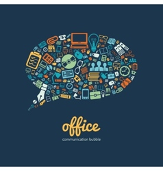 Office communication bubble vector