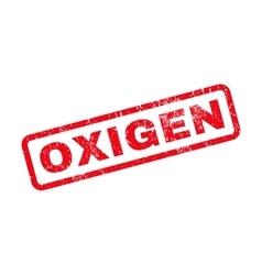 Oxigen Rubber Stamp vector