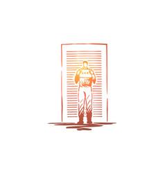prisoner mugshot vector image