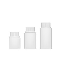 realistic plastic pill bottle mock up vector image