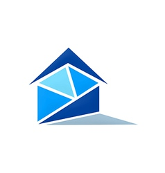 Realty home message logo vector