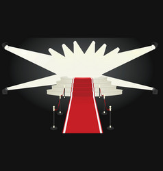 red carpet podium vector image